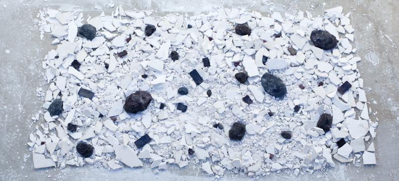 """wax & plaster, 96"""" x 36"""" x 6"""", 2013"""