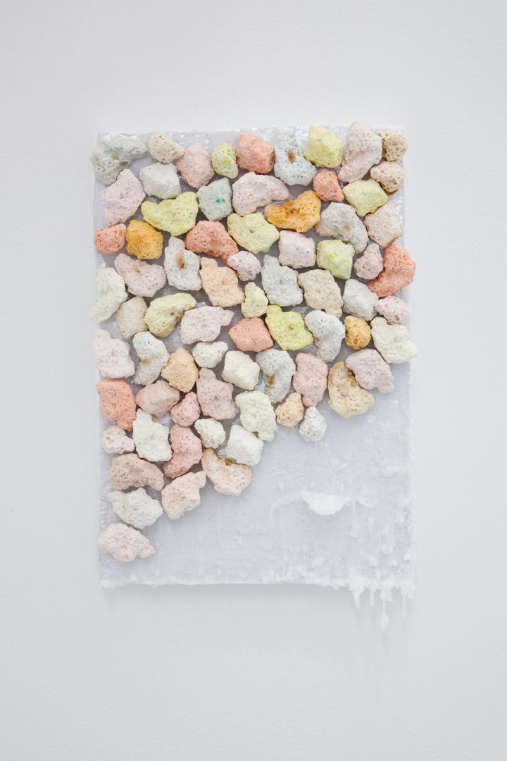 hydrocal, Kool-Aid, wax, foam, 2017